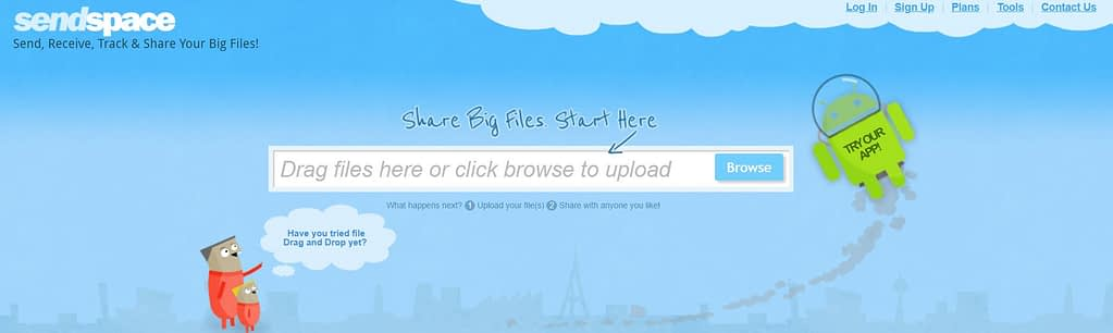 SendSpace Top Best Anonymous File  Sharing Websites